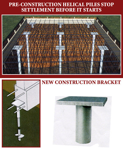 New Construction Foundation with Helical Piers
